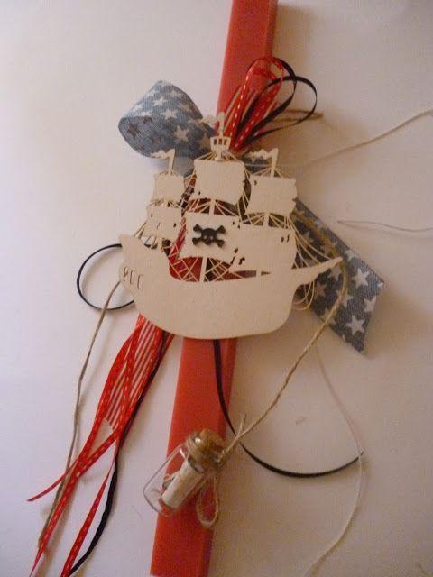 Irene & Nicki Crafts:          Pirate Ship Easter Candle Hi e...