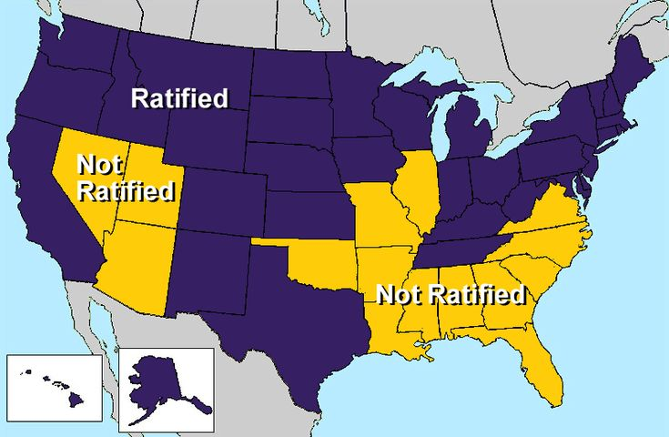 The Equal Rights Amendment was passed by Congress, but not ratified. Virginia, you're embarrassing me again...