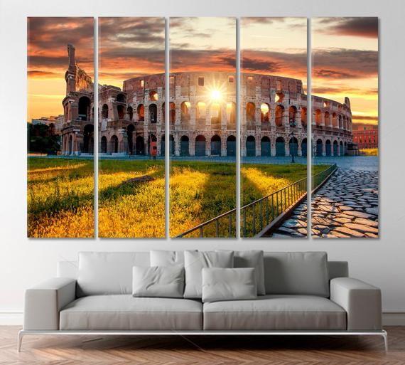 Colosseum Print Colosseum Canvas Colosseum Wall Art Print Giclee Etsymktgtool Colosseumwalldecor Colosseumwallart Italy Wall Art Sunset Canvas Rome Italy