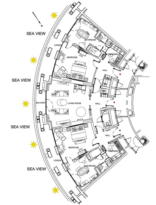 Hotel De Paris Monte Carlo Diamond Suite Sea View 1937 Sq Ft Terrace Included Hotel Floor Plan Hotel Room Plan Resort Plan