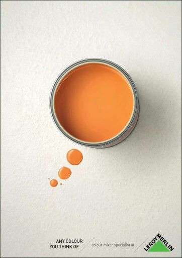 "#Publicidad gráfica creativa de Leroy Merlin | ""Any colour you can think of."" #creatividad"