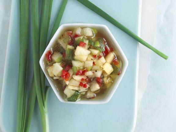 Ananassauce ist ein Rezept mit frischen Zutaten aus der Kategorie Dips. Probieren Sie dieses und weitere Rezepte von EAT SMARTER!