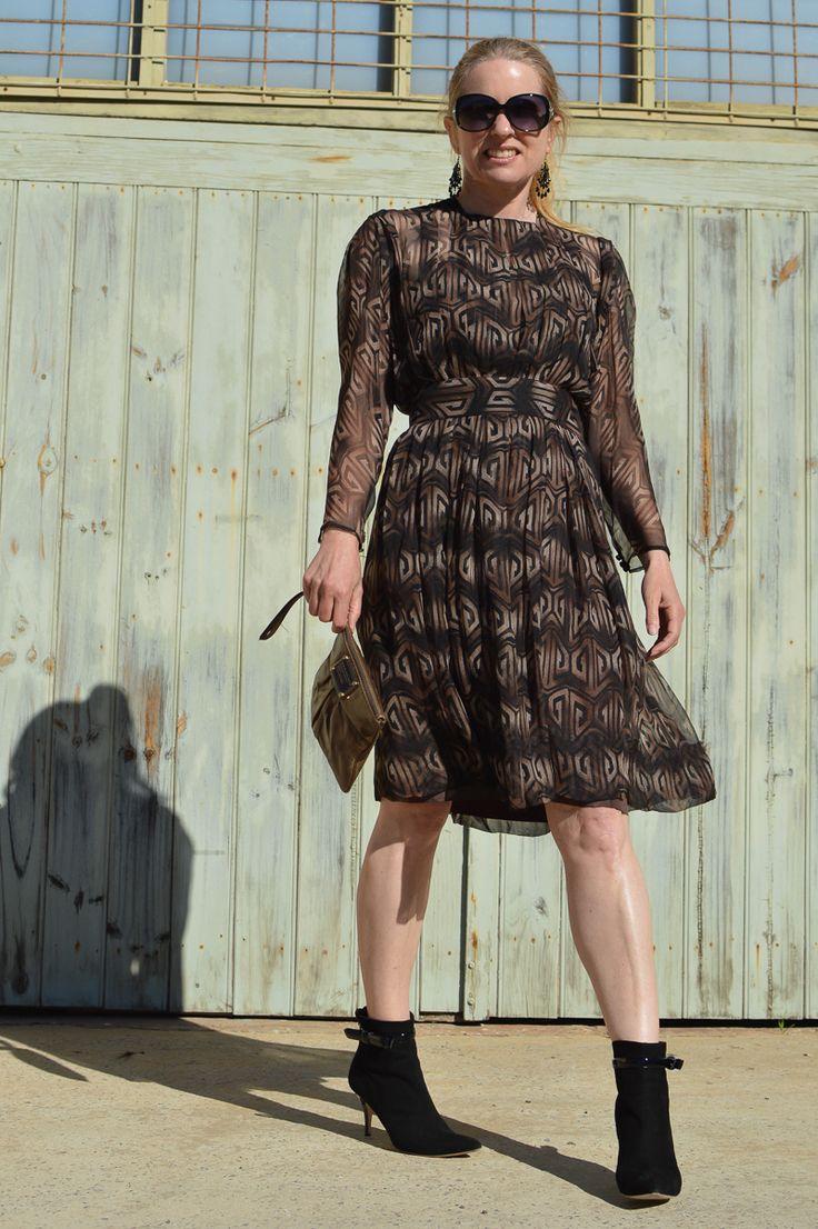 1970s Pauline Trigère vintage 4 piece dress