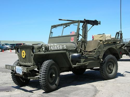 Willys Mb Jeep 1942 With 50 Caliber Machine Gun