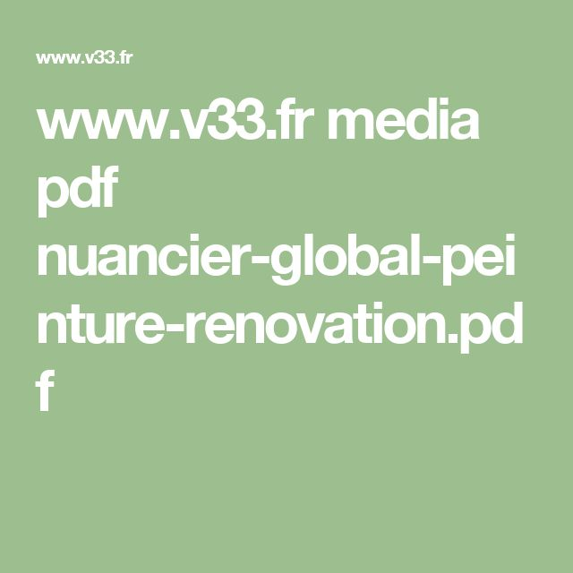 media pdf nuancier global peinture renovation. Black Bedroom Furniture Sets. Home Design Ideas