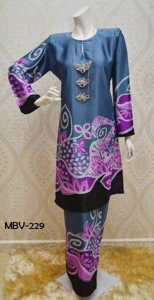 Baju Kurung Pahang Corak Batik Terkini 2015