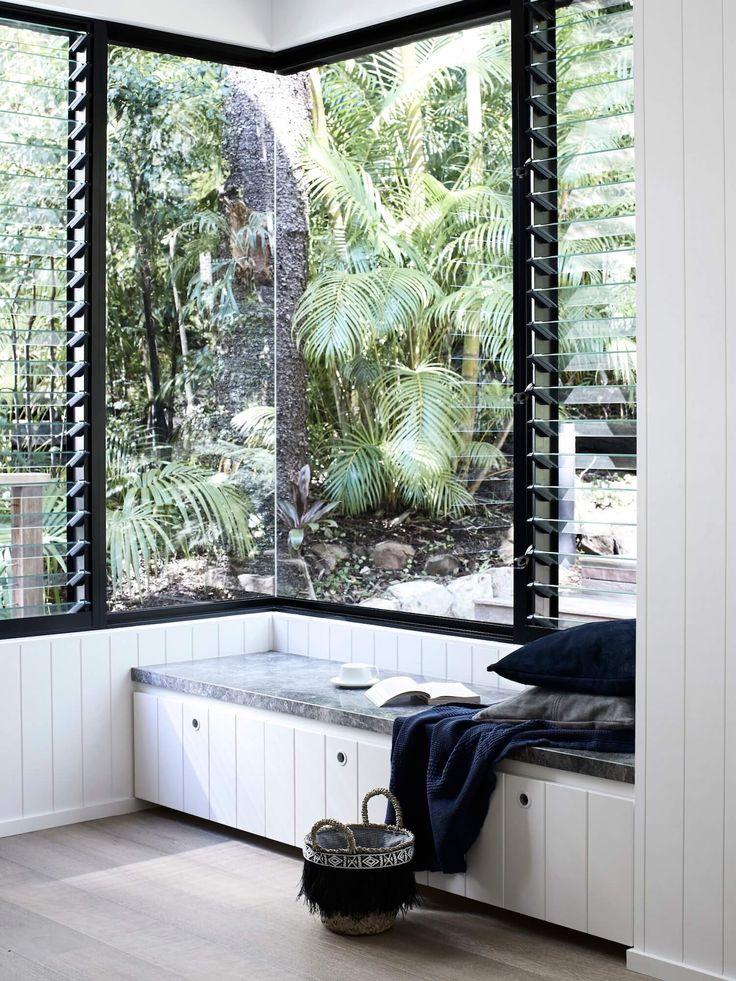 Corner window, Edge of the Rainforest by Mim Design