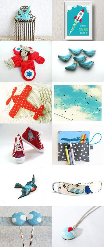 Come fly with me... by Hayah on Etsy--Pinned with TreasuryPin.com #bluesky #freedom #handmade