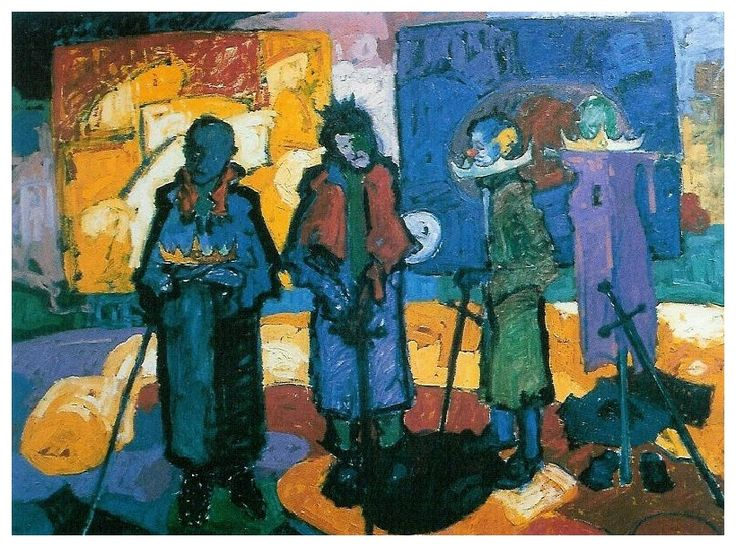 Devrik Krallar / Rois déchus /  The fallen kings -Oil on Canvas- 98x130cm-1990
