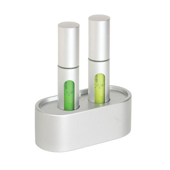 COD.EO020 Set de Destacadores. 9 x 10,7 x 4,2 cm Con base para escritorio. Amarillo y Verde. Diseño exclusivo.