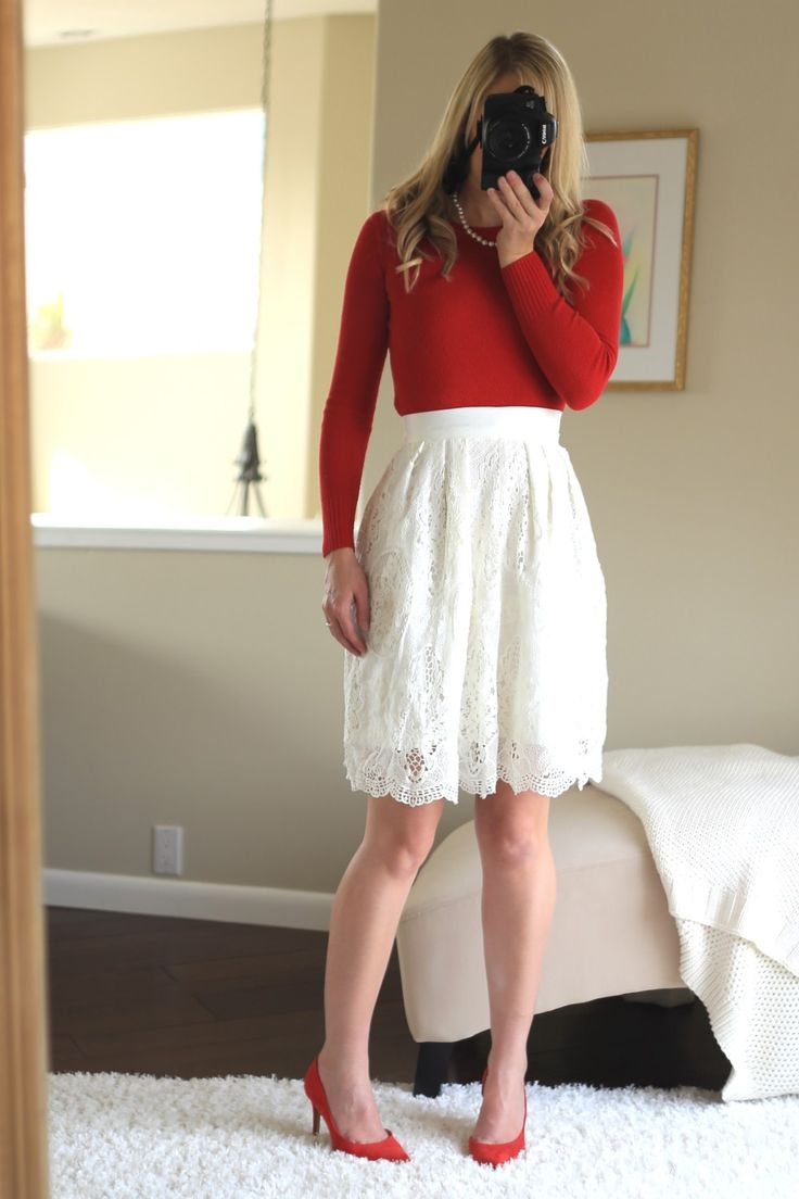 Christmas outfit women formal outfits church lace skirt