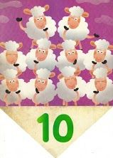 vlaggenlijn met getallen voor kleuters 10