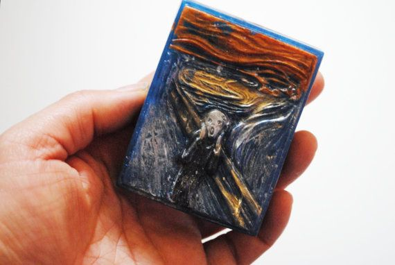 Handmade inspired 'The Scream' parody Soap  Edvard by NerdySoap