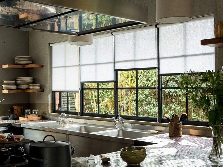 1000 id es propos de rideaux de fen tre pour la cuisine for Deco fenetre cuisine