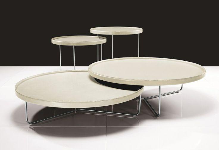Juego mesas laterales redondas
