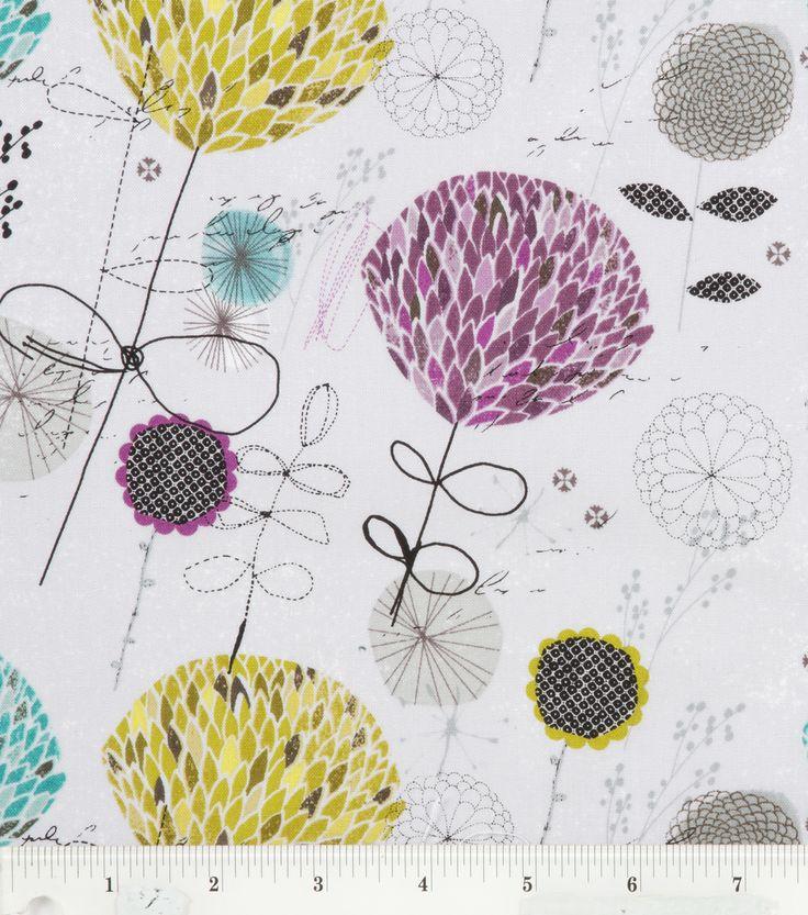 Legacy Studio Fabric-Grey Funky FloralLegacy Studio Fabric-Grey Funky Floral,