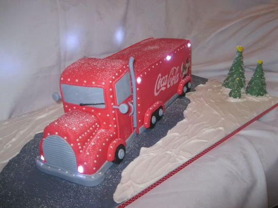 coca cola truck wedding cake