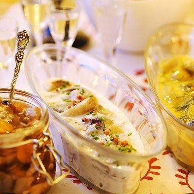 Krämig julsill, // Recipe in Swedish. Creamy Christmas herring