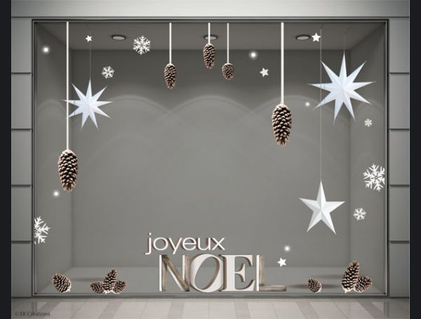 Les 25 meilleures id es de la cat gorie stickers noel sur for Sticker fenetre noel