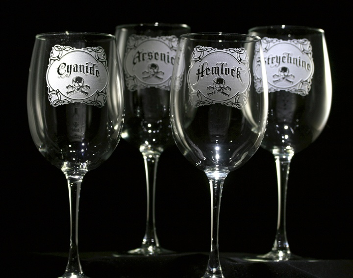 Name Your Poison Wine Glass Set Personalized Glasses