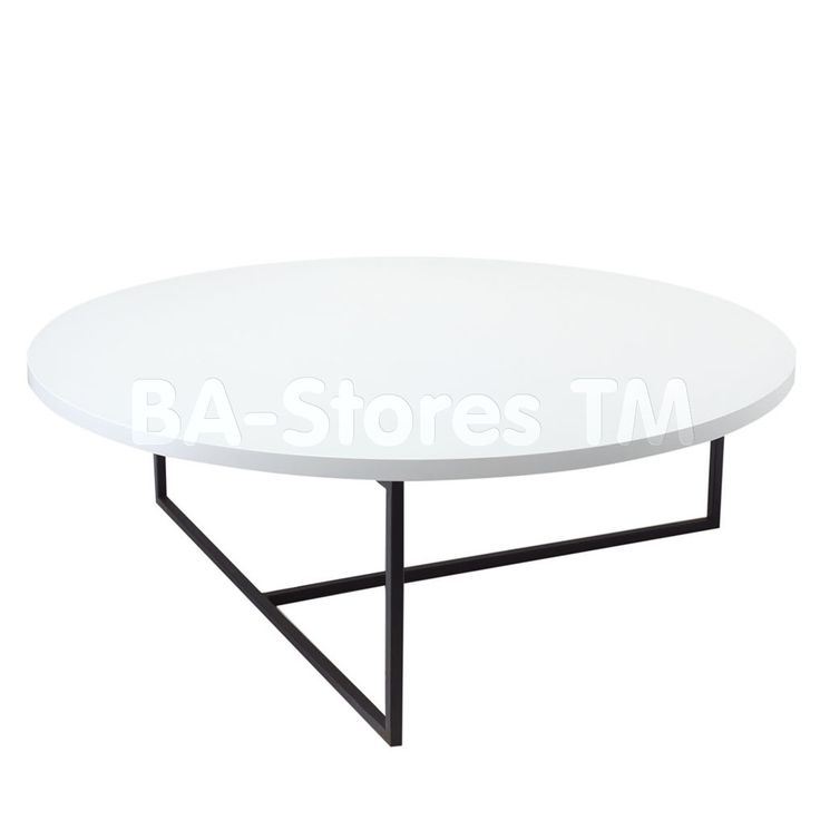 Awesome White Circle Coffee Table Part - 12: Dolf Round Coffee Table | White Lacquer