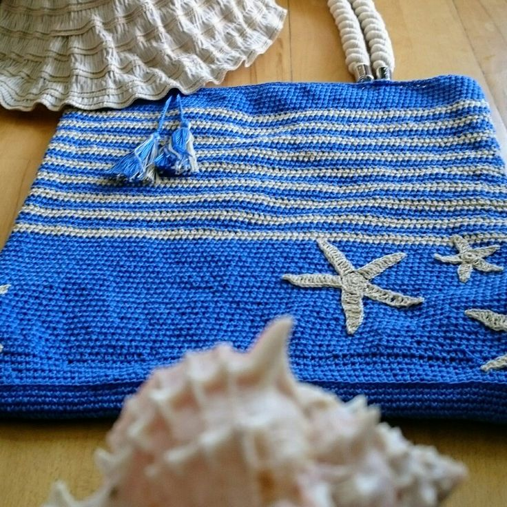 "Crochet summer bag ""sea stars"""