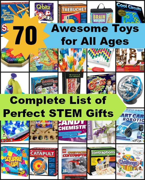 Huge List of Awesome Stem Gifts for All Ages - STEM Toys to help your child love science, engineering, technology and math!