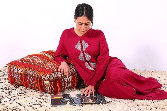 Tribal Pillow Ottoman Kilim Pouf 24 Square Pouf Ottoman Pillow