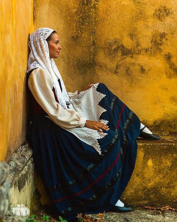 Portrait of Zakinthian lady wearing the folklore suit of #Zakinthos. Photoshoot for Greece_is ~ Zakinthos Island 2015