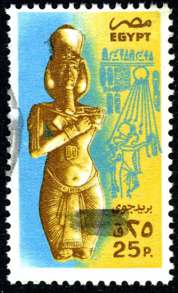 Akhenaten (Amenhotep IV) Pharaoh of Egypt, husband to the above mentioned Queen Nefertiti and possibly the father or more likely father in law of Tutankhamen.