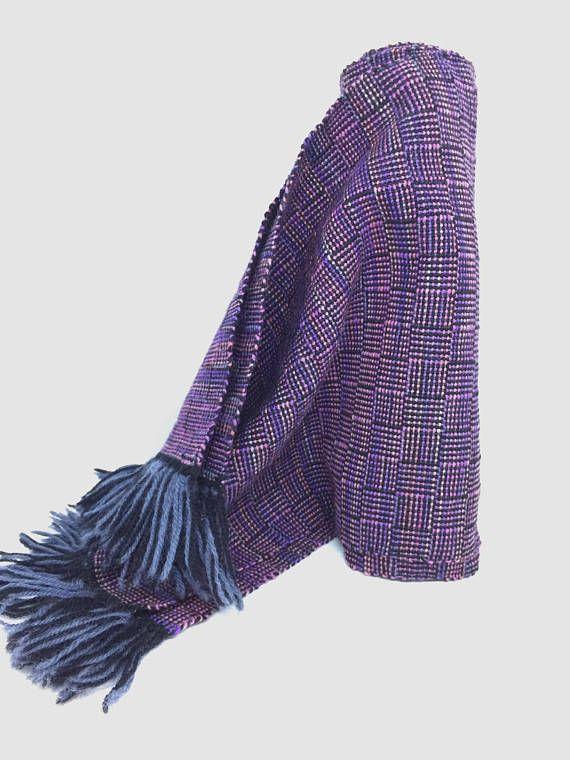 Foulard tissé à la main laine Foulard pour hommes Foulard