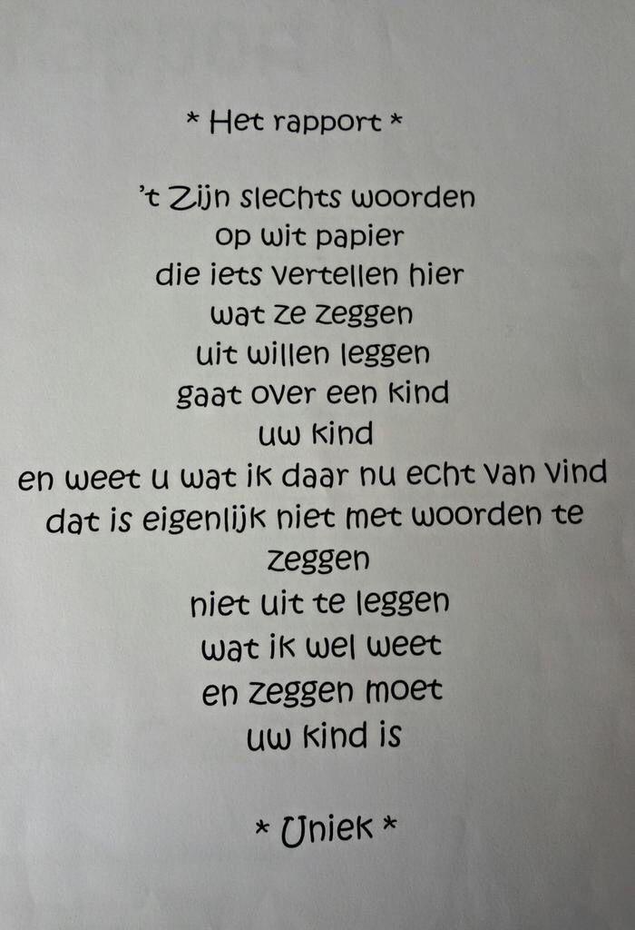Tekst voor kinderrapport
