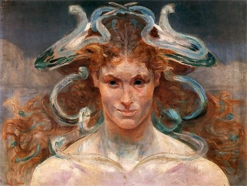 Jacek Malczewski - Medusa, 1900, oil on canvas, 48 × 63 cm, Lviv National Art Gallery, Ukrain