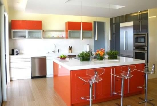 Orange Kitchen Decor