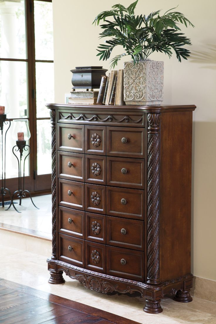 Dark Brown North Shore Chest Of Drawers View 1