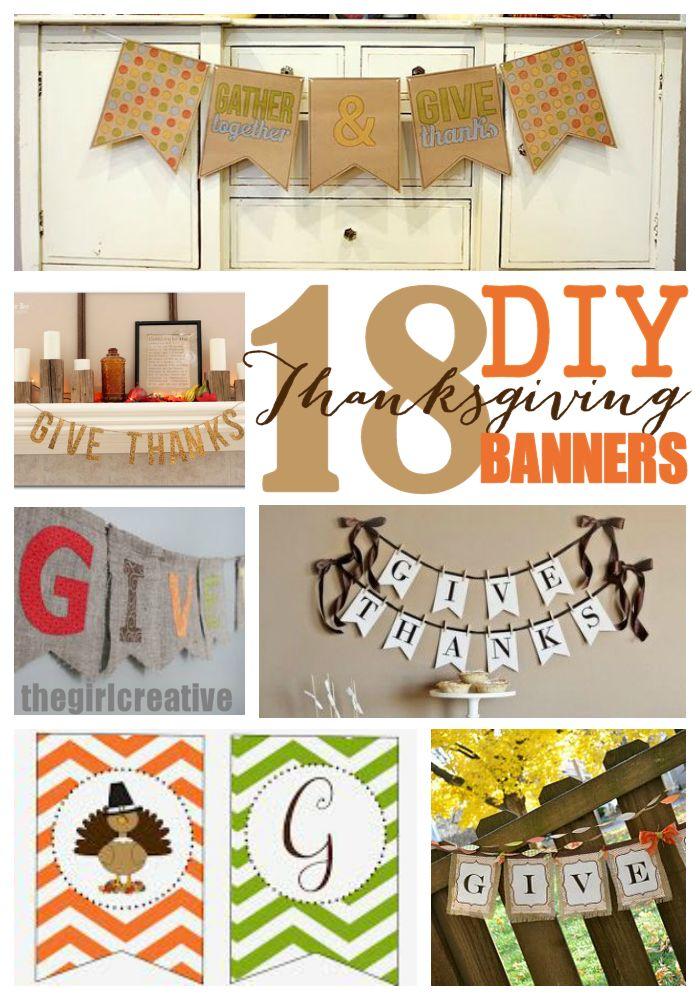 DIY Thanksgiving banner roundup