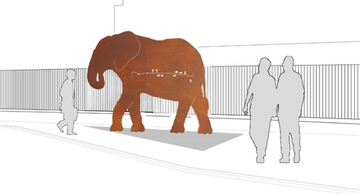 This 2.2 metre tall elephant sculpture will stand on Colchester Station's south-side forecourt. It is positioned as if walking towards the town centre and includes a basic map showing the route and points of interest. A plaque lets visitors know that they need to follow the elephants and the colour yellow to get to the town centre. This will give visitors more confidence that they are using the quickest route to the town.