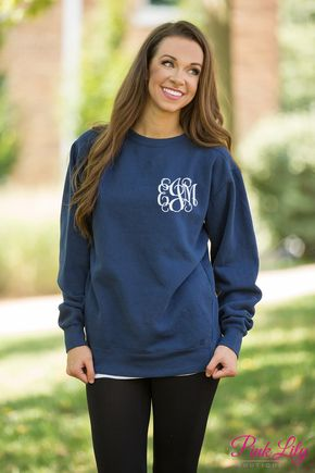 You're sure to fall in love with our brand new Comfort Colors Monogrammed Sweatshirts!