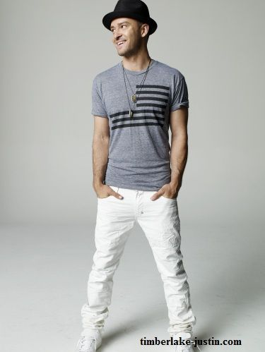 Oh, Justin. You can even look hot in white pants. I mean...it's not fair to the rest of the world.