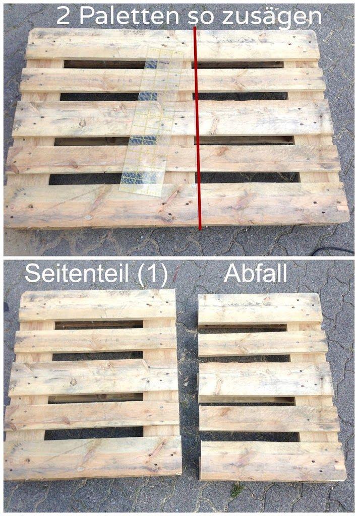 Möbel aus Paletten bauen - Anleitung Möbel aus europaletten - holz mobel aus europaletten bauen