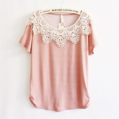 Dotted Batwing Short-sleeved T-shirt