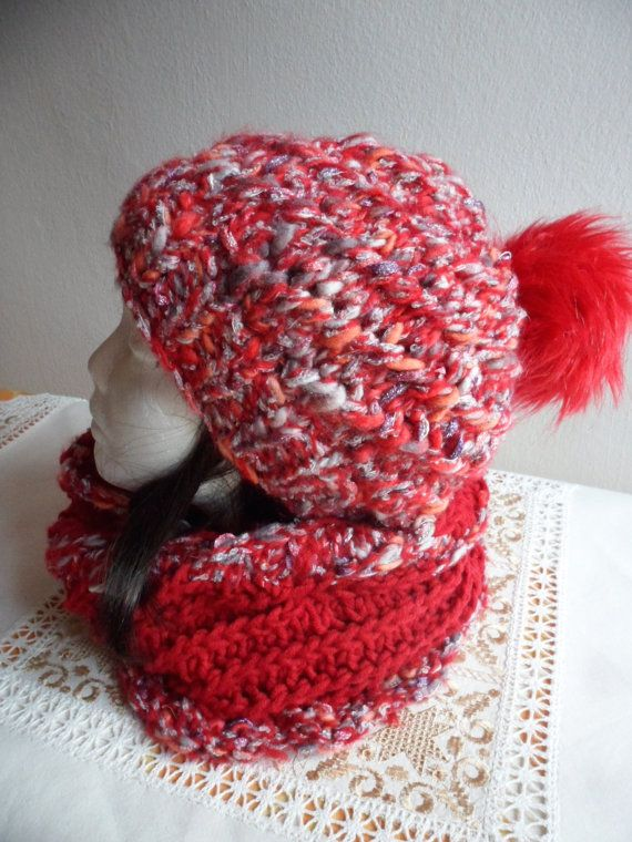 ✰♪ #Slouchy beanie hat and Scarf Set, #Women beanie, Knit #Slouchy Beanie Ha... Order http://etsy.me/2eRbkwd