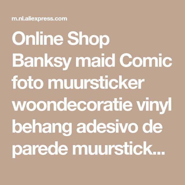 Online Shop Banksy maid Comic foto muursticker woondecoratie vinyl behang adesivo de parede muurstickers home decor | Aliexpress Mobile
