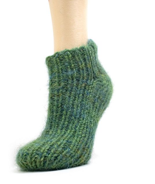 2 needle sock slipper pattern Free Knitting Patterns Pinterest Socks