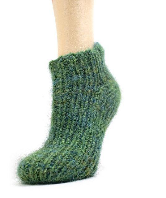 Knitting Pattern Socks Two Needles : 2 needle sock slipper pattern Slippers Pinterest