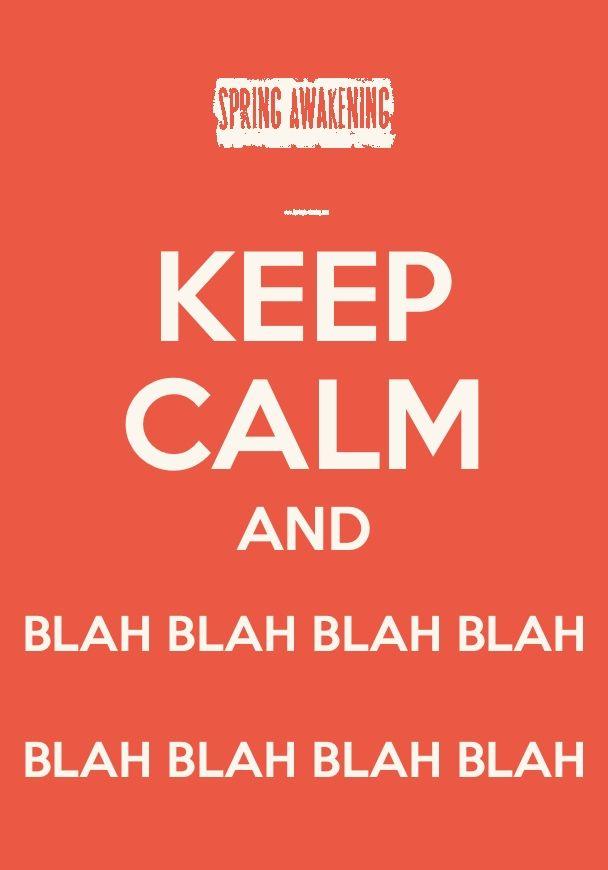 Keep Calm and Love Musicals