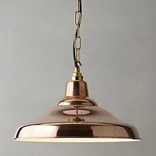 Buy Davey Lighting Factory Ceiling Light, Copper Online at johnlewis.com