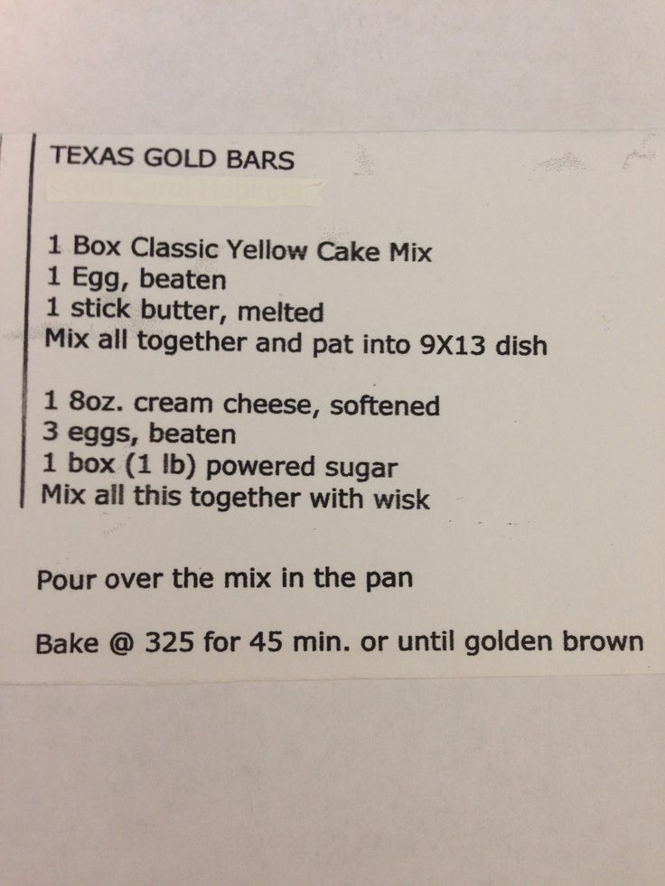 Texas Gold Bars (used yellow cake recipe from: http://www.cinnamonspiceandeverythingnice.com/best-one-bowl-yellow-cake-recipe/)