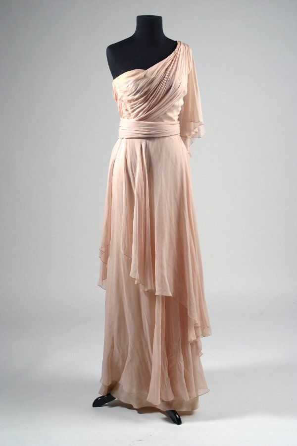 """Edith Head Costume Worn by Jill Clayburgh in her portrayal of silver screen actress Carole Lombard in """"Gable and Lombard"""" (Universal, 1976)."""