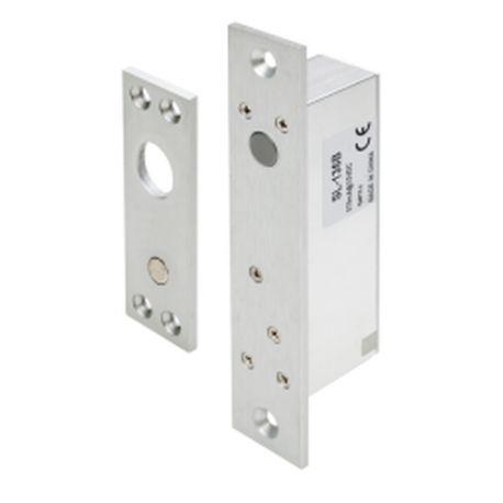 Mini bolt electric incastrat SL-166B. CARACTERISTICILE MINI BOLTULUI ELECTRIC INCASTRAT SL-166B SL-166B este un mini bolt electric incastrabil cu monitorizare, temporizare si contact pentru buton. Poate fi utilizat in sistemele de control acces pentru usi cu deschidere de 90º~180º din metal sau lemn.  Monitorizare stare usa (NC, COM, NO) Temporizare (0~3 secunde